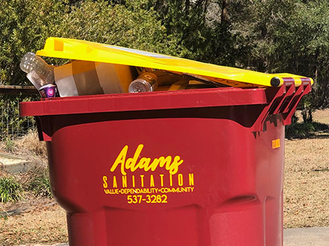 Adams Sanitation Residential Recycling Service Cart