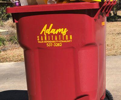 Adams Sanitation Residential Recycling Service Cart