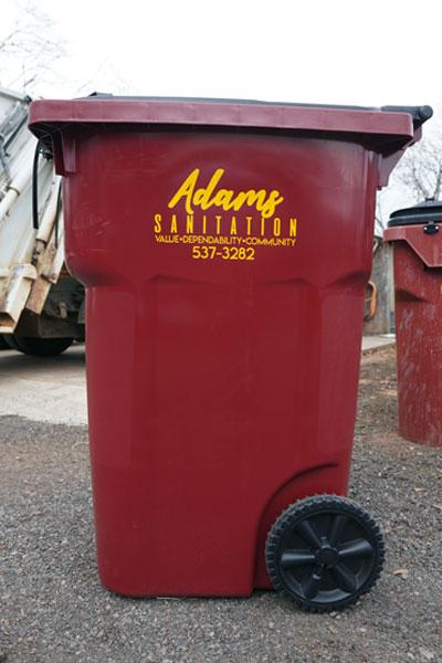 Adams Sanitation Residential Trash Service Cart