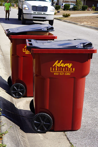 Adams Sanitation Santa Rosa County Commercial Trash Service Carts