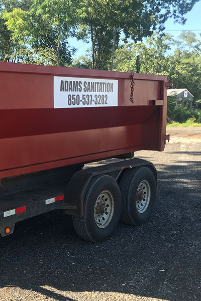 Adams Sanitation Santa Rosa County Dumpster Service